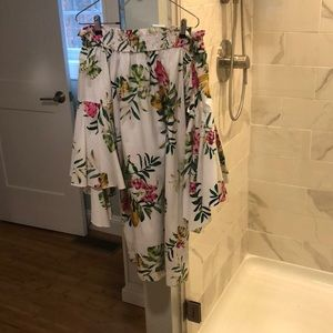 NWT  Ny&Co white dress with statement sleeve